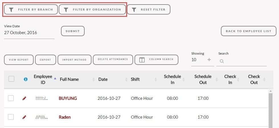 Filter pada Attendance Talenta - Input Data Karyawan Lebih Mudah Gunakan Fitur Fitur Talenta Ini