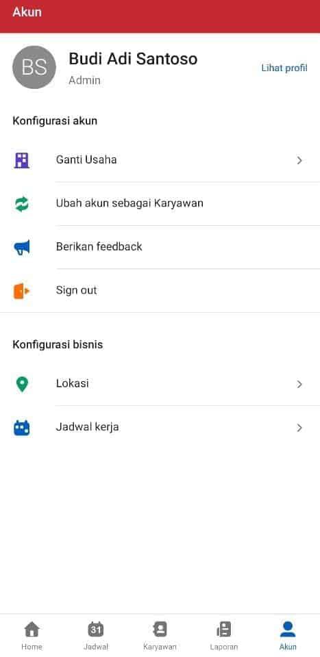 Contoh Penggunaan Aplikasi untuk Mengelola Kehadiran Karyawan.