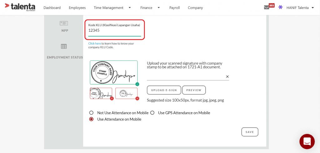 pendaftaran proses insentif pajak di Talenta