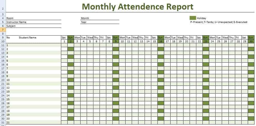 contoh absen karyawan dalam laporan mingguan.