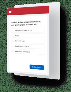 Pantau kesehatan karyawan melalui survei di aplikasi