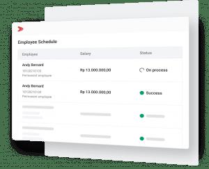 Pastikan status transfer gaji secara real-time