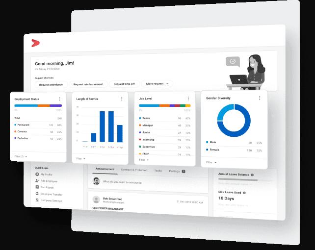 Fitur demografi data karyawan di dalam aplikasi & software database karyawan perusahaan | Talenta