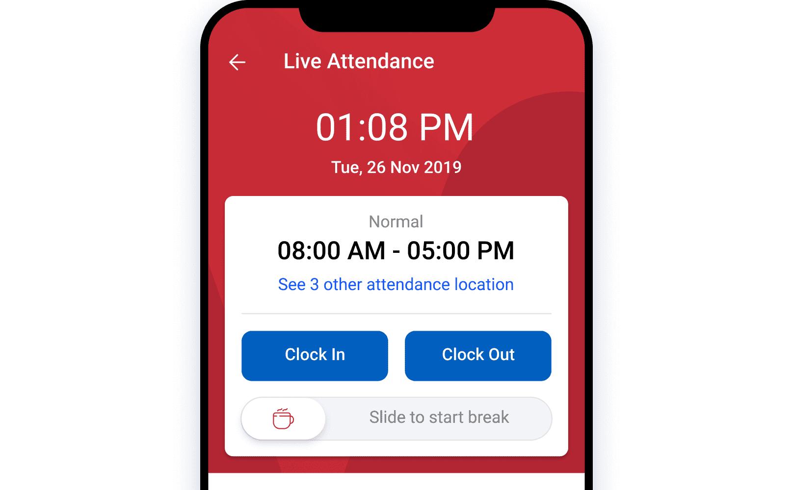 GPS-based Attendance