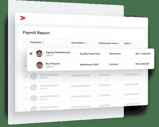 Sistem payroll untuk berbagai jenis karyawan dan proyek