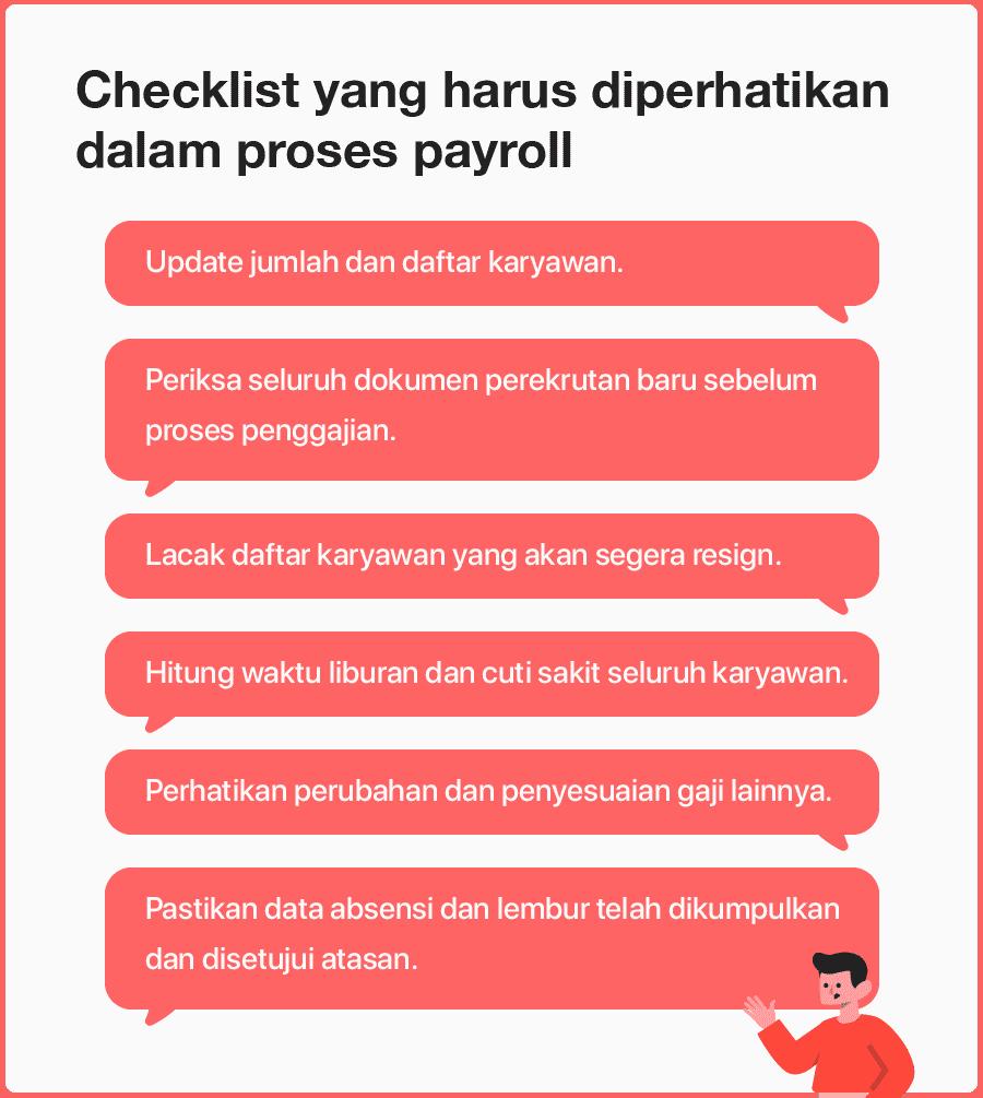 Checklist yang harus diperhatikan dalam proses payroll