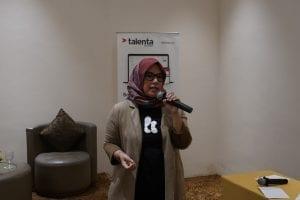 VP of people and Culture Kata.ai, Reno Rafly, di diskusi Insight Talenta: Catching up to Workforce 2020: Leading the Digital Age di Aone Hotel, Jakarta, (30/1).