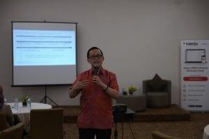 Director of Career Service Mercer, Isdar Marwan, di diskusi Insight Talenta: Catching up to Workforce 2020: Leading the Digital Age di Aone Hotel, Jakarta, (30/1).