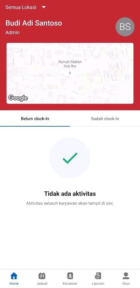 Fitur Home Attendance by Talenta - Kehadiran Karyawan