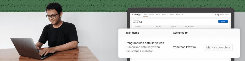 Ilustrasi cara mudah work from home dengan Talenta