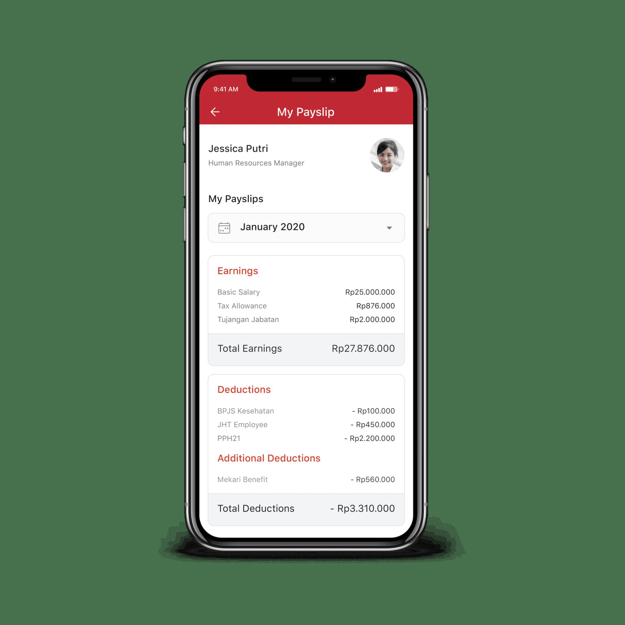 Contoh Aplikasi Pengiriman Slip Gaji Mobile Android Based